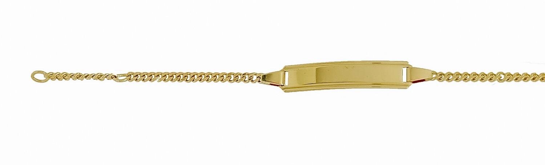Bébé Bracelet Panzer Gelbgold 750