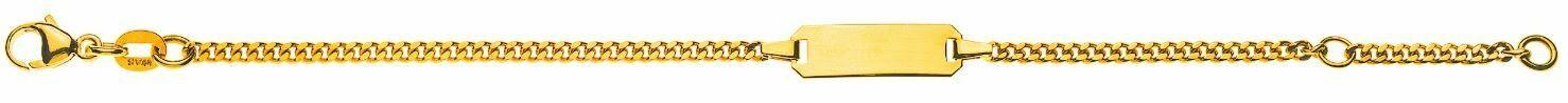 Bébé Bracelet Panzer geschliffen Gelbgold 750