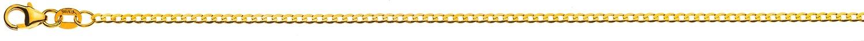 Halskette Panzer extraflach diamantiert 2,4mm Gelbgold 750
