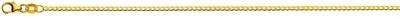 Halskette Panzer extraflach diamantiert Gelbgold 750