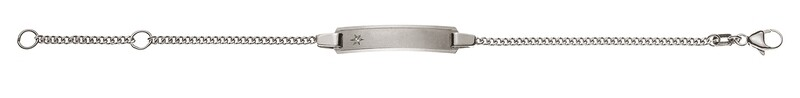 Bébé Bracelet Panzer Weissgold 750