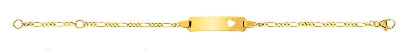 Bébé Bracelet Figaro Gelbgold 750