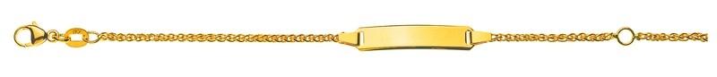 Bébé Bracelet Zopf Gelbgold 750