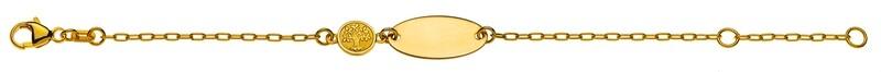 Bébé Bracelet Anker Oval Gelbgold 750