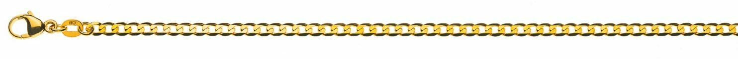 Armband Flachpanzer Gelbgold 750