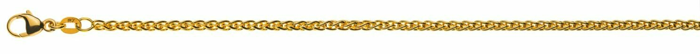 Armband Zopf Gelbgold 750