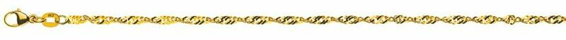 Armband Singapur  Gelbgold 750