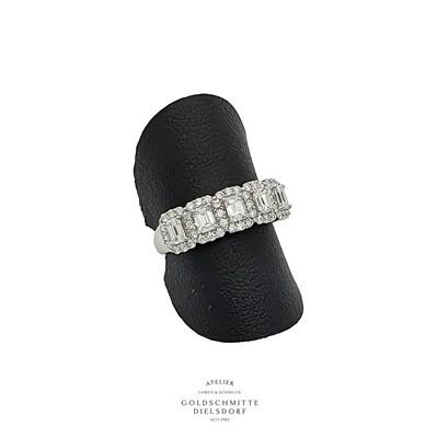 Damenring Weissgold 750 mit Diamanten