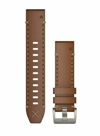 Garmin QuickFit Armband Vachette Leder Braun 22mm