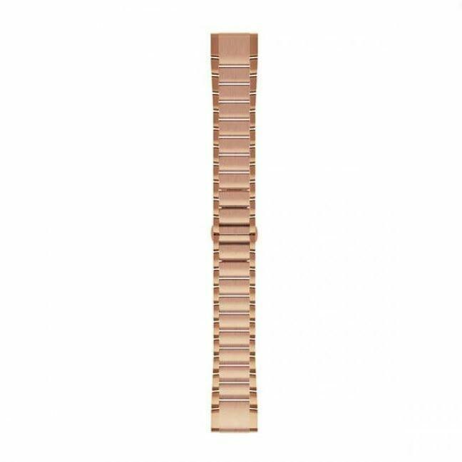 Garmin QuickFit Edelstahlarmband Roségold 20mm