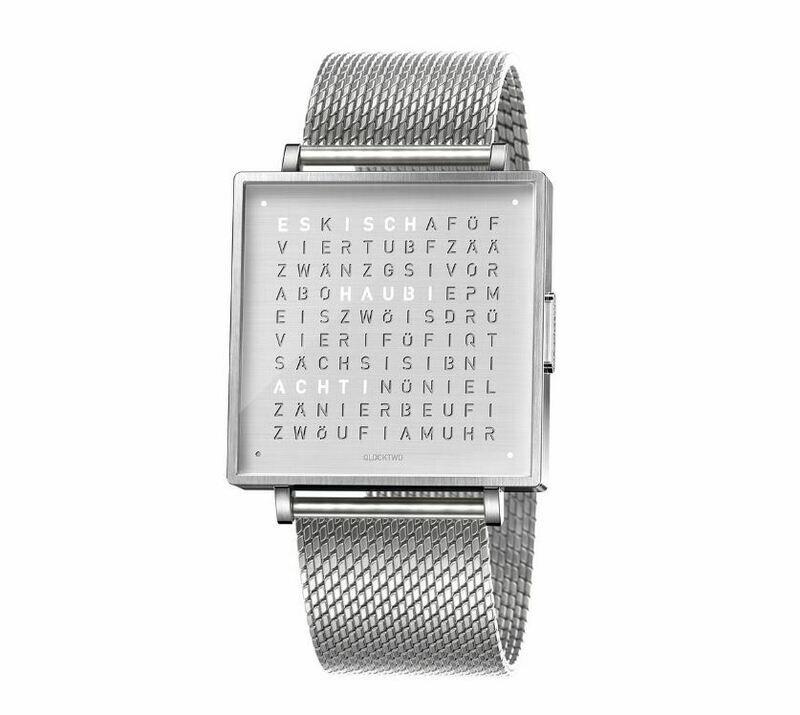 Armbanduhr Qlocktwo W39 Schweizerdeutsch
