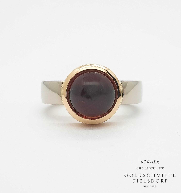 Damenring Bicolor Weissgold 750 / Rotgold 750