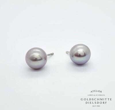 Perlohrstecker Süsswasser - Perlen Silber 925