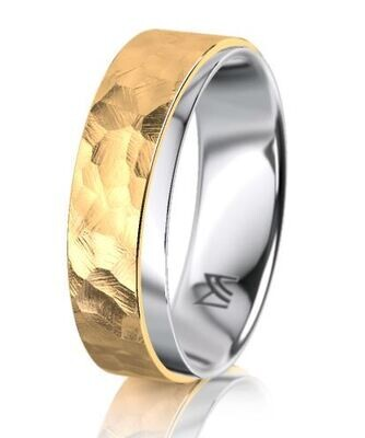 Trauring MEISTER INDIVIDUALS bicolor Gelbgold / Weissgold 750