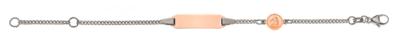 Bébé Bracelet Panzer bicolor Weissgold 750 / Rotgold 750