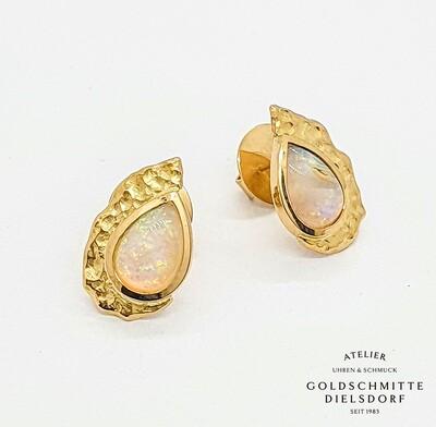 Ohrstecker Gelbgold 750 mit Opal