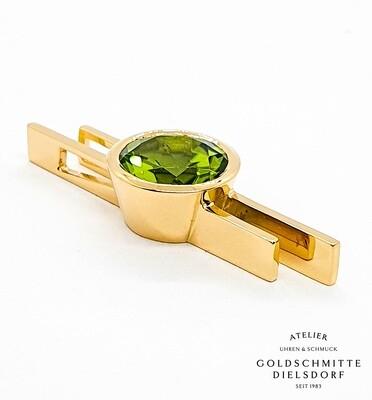 Anhänger Gelbgold 750 mit Peridot