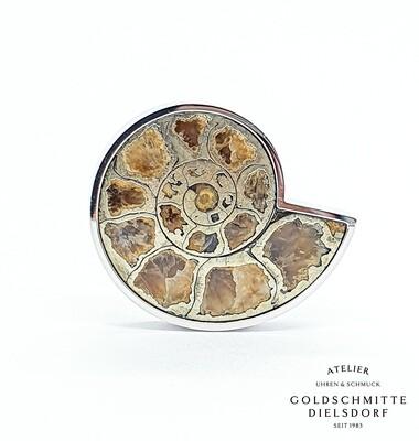 Anhänger Weissgold 750 mit Ammonit