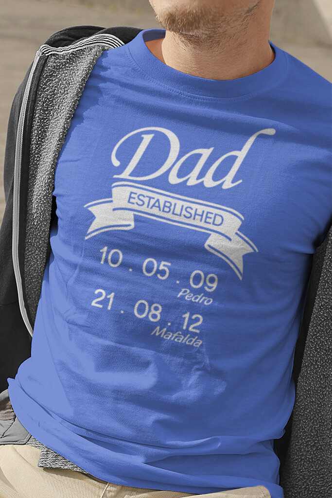 "T-Shirt ""Dad Established"""