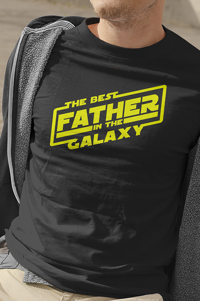 """T-Shirt """"Best Father of the Galaxy"""""""