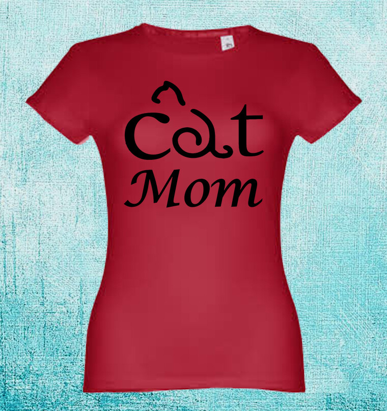 "T-Shirt ""Cat Mom"""