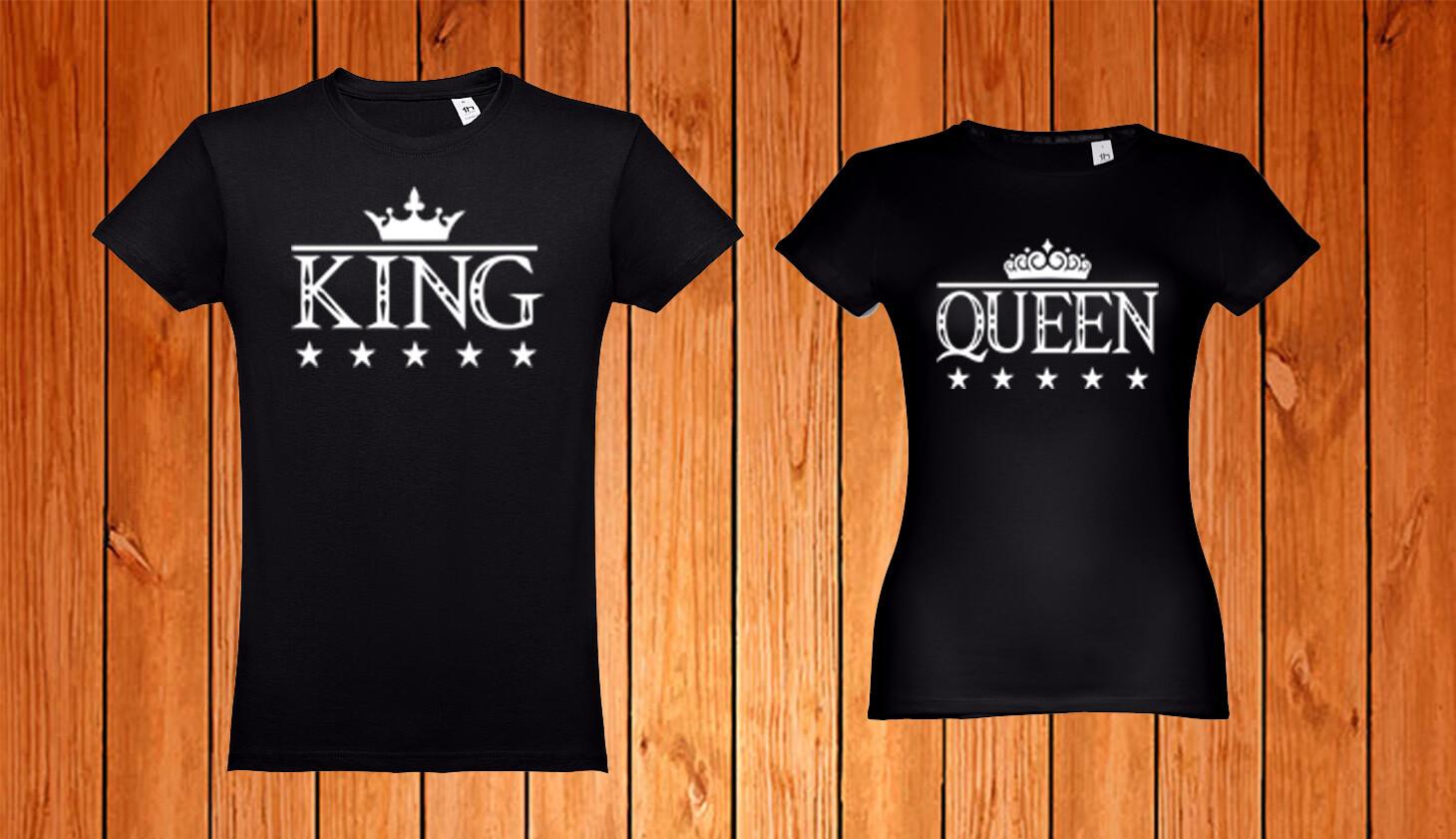Conjunto 2 T-Shirts King - Queen
