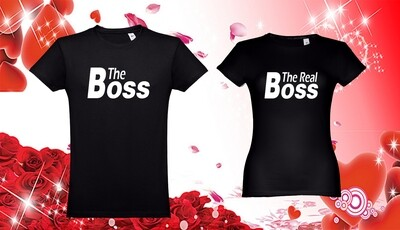 Conjunto 2 T-Shirts The Boss - The Real Boss