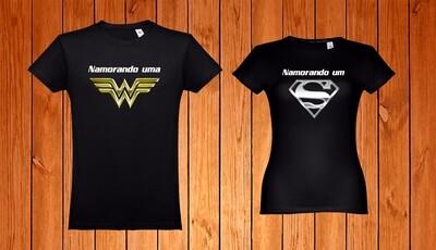 Conjunto 2 T-Shirts Namorando um(a)...