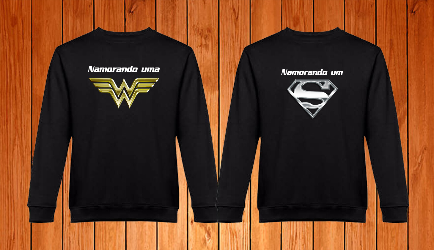 Conjunto 2 Sweatshirts Namorando um(a)...