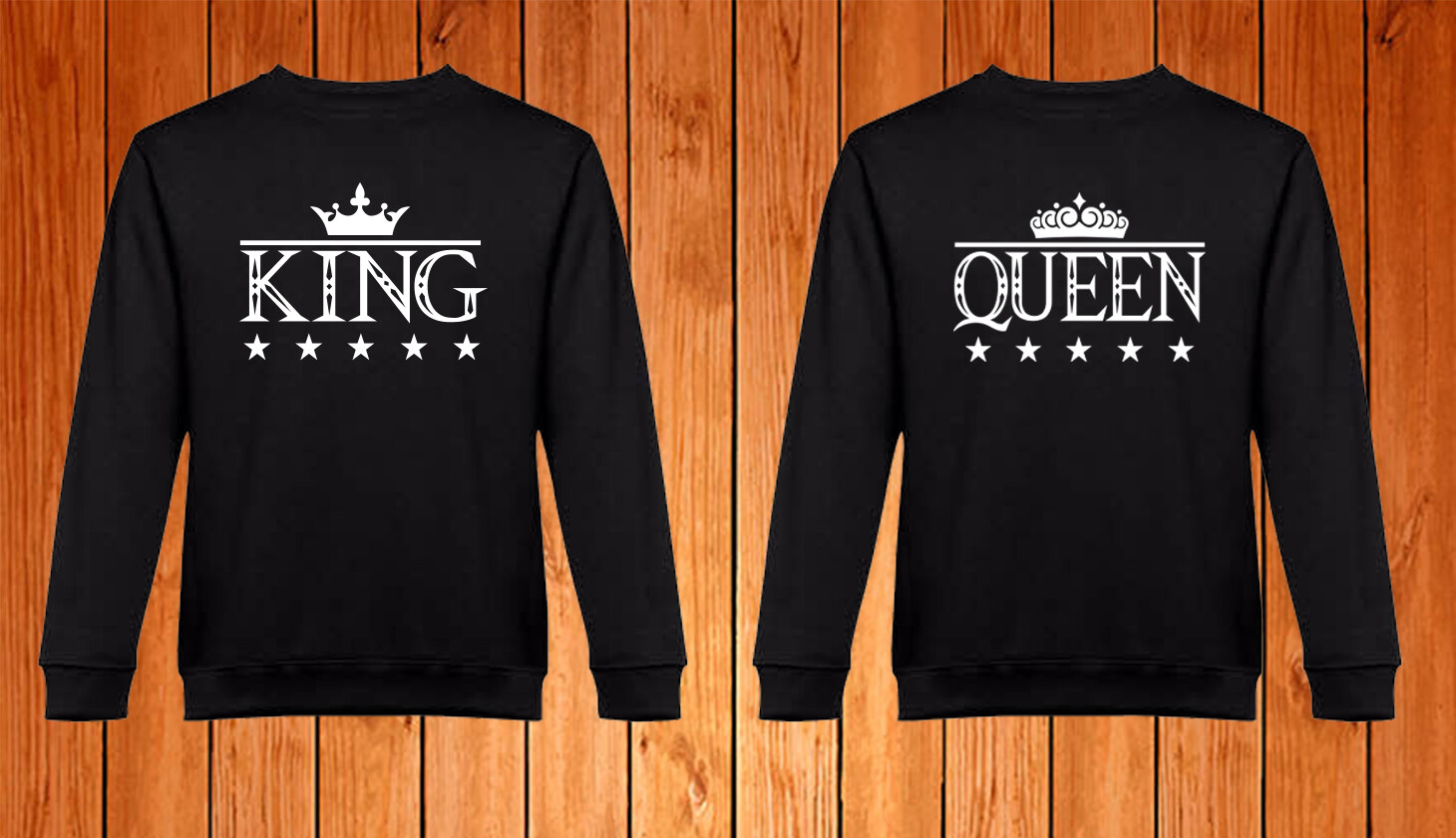 Conjunto 2 Sweatshirts King - Queen