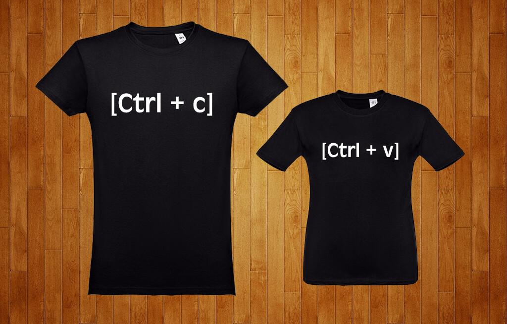 Conjunto 2 T-Shirts Ctrl+C - Ctrl+V