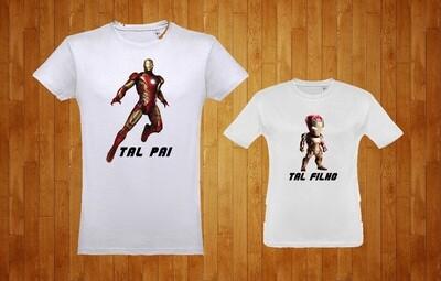 Conjunto 2 T-Shirts IronMan Tal Pai - Tal Filho