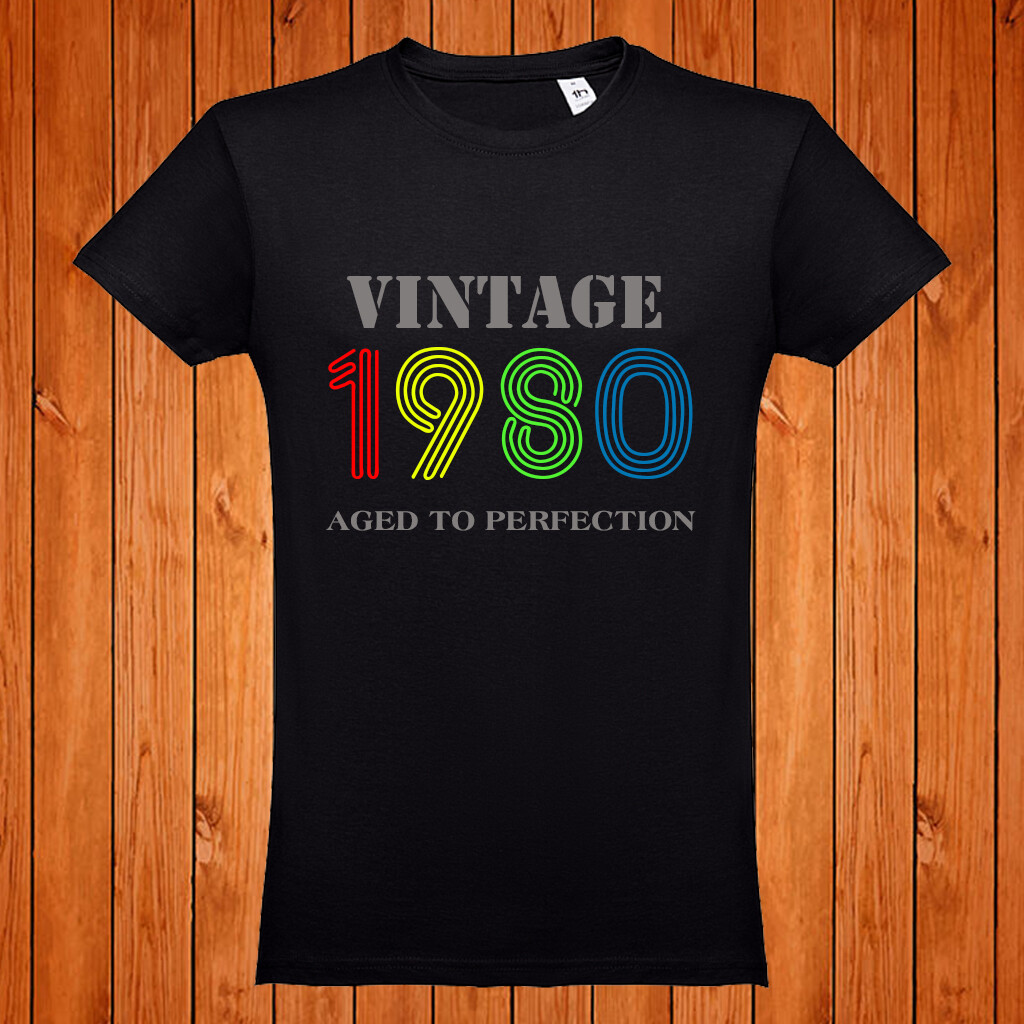 "T-Shirt ""Vintage Aged to Perfection"""