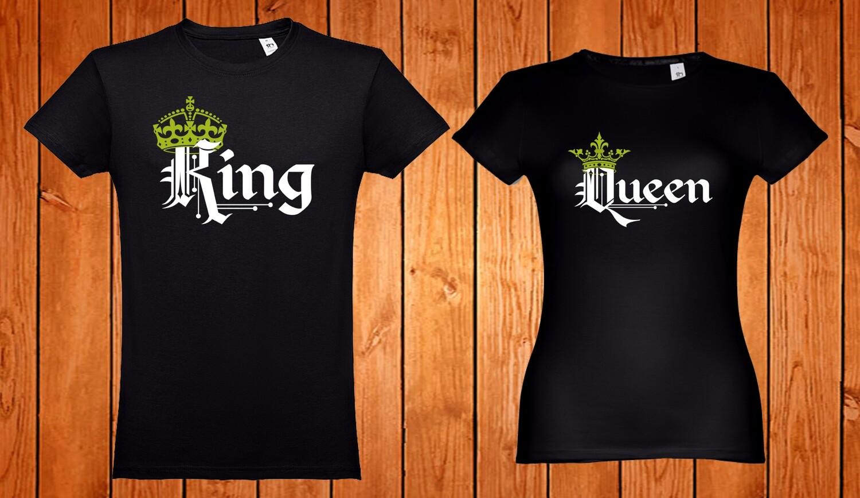 Conjunto 4 T-Shirts King - Queen - Prince/Princess