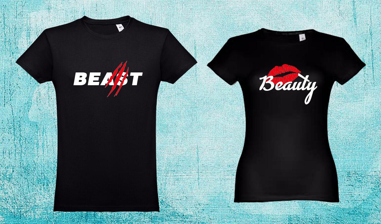 Conjunto 2 T-Shirts Beauty - Beast