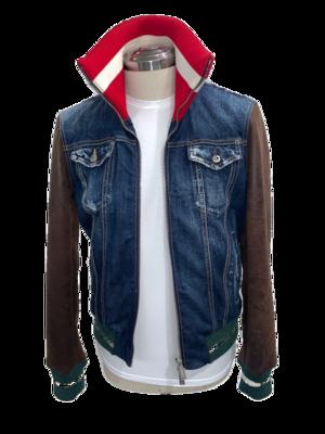 Dsquared Jeansjacke mit Ärmel aus Leder