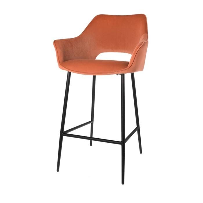 Set of 2 fashionable bar stools Eve brique 98 cm