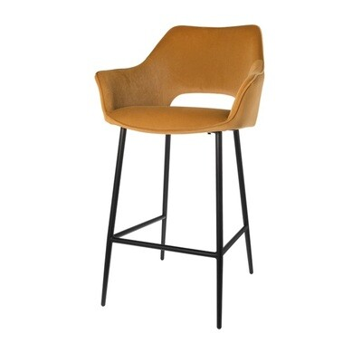 Set of 2 fashionable bar stools Eve caramel 98 cm