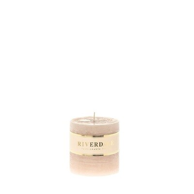 Candle Pillar beige 7x7cm - no parfume