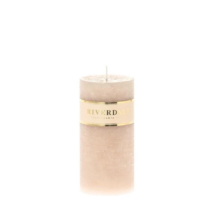Candle Pillar beige 7x14cm - no parfume