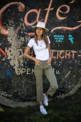 Jeans Loreen kaki - LAST ONE