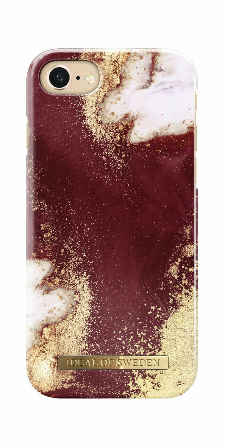Golden Burgundy Marble Fashion Case