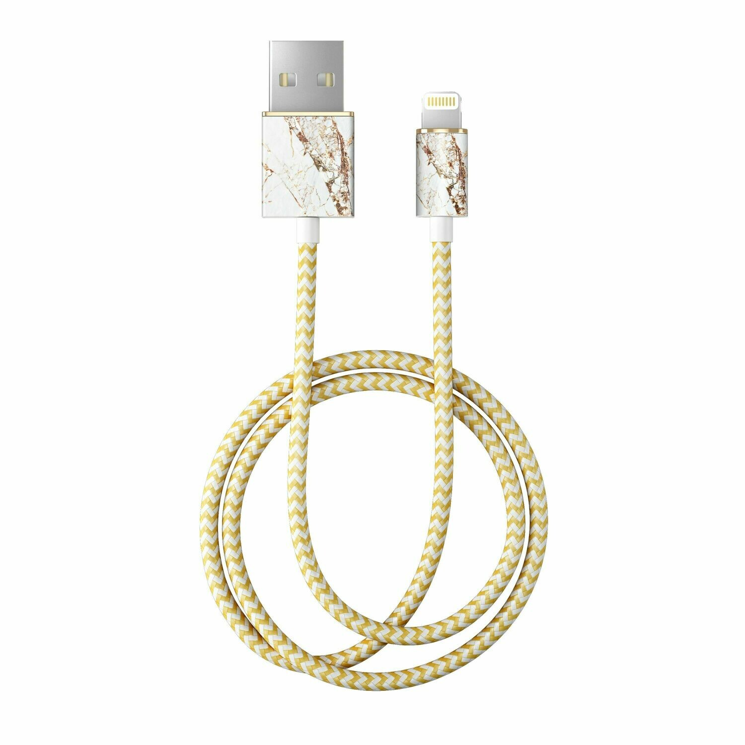 Carrara Gold Fashion Cable 1m Lightning