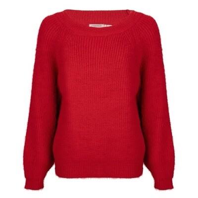 Cobalt blue sweater hard round neck