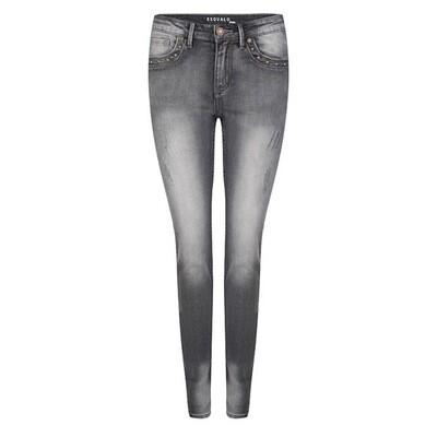 Grey damaged 5-pocket jeans