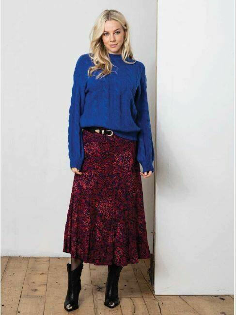 Skirt bright leopard print