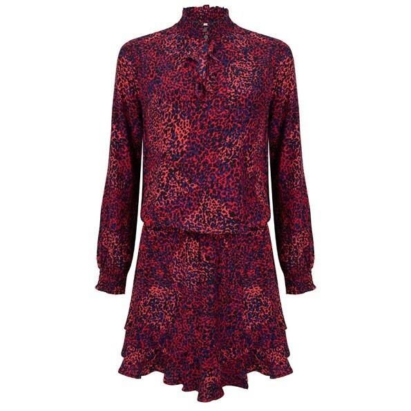 Dress bright leopard print