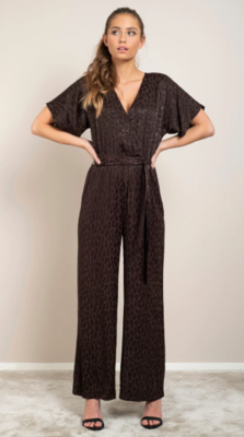 ADA jumpsuit Brown Leo Jacquard