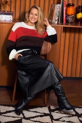 Skirt PU-leather A-line