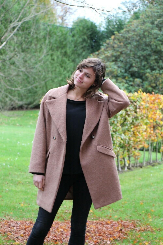 Camelkleurige mantel
